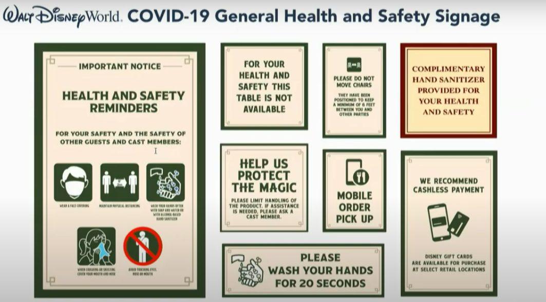 Disney world coronavirus signs