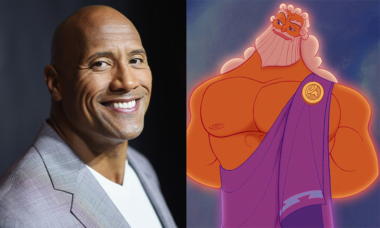 dwaye-johnson-zeus Hercules Live Action Cast