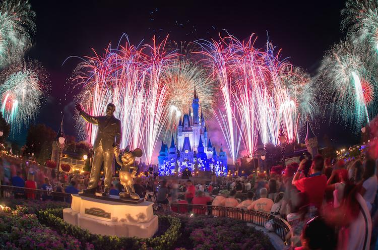 fireworks over castle