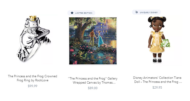 Princess and the Frog Styles Merch