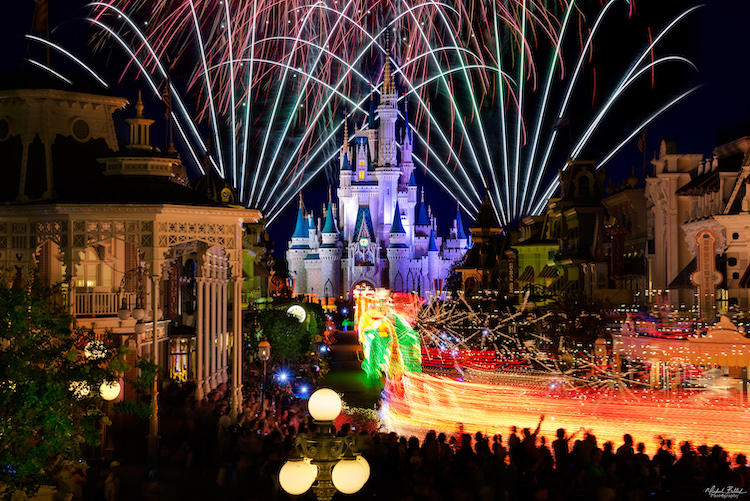 The Main Street Electrical Parade With Cinderella Castle