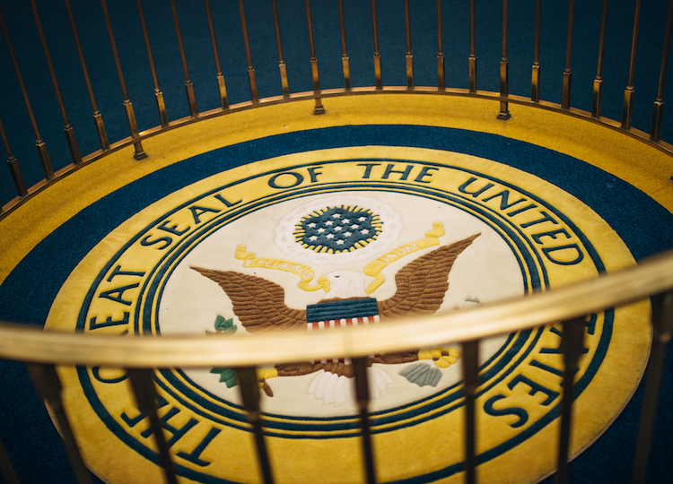 hall of presidents seal on floor