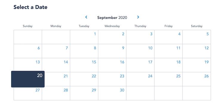 Select a date calendar my disney experience