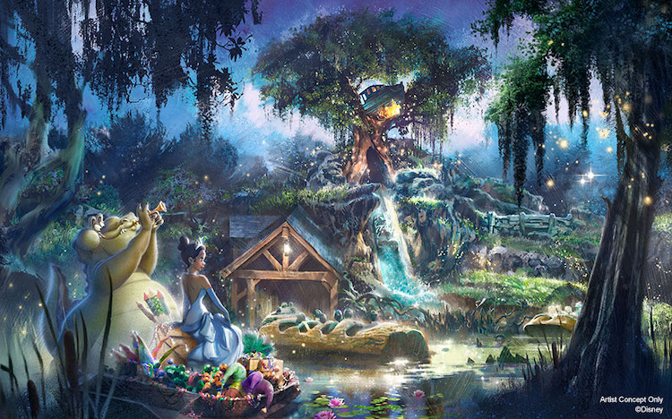 Re-theming Splash Mountain Princess and the Frog