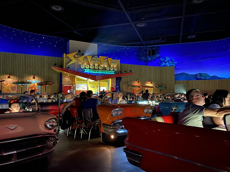 Sci-Fi Dine-In Theater Inside