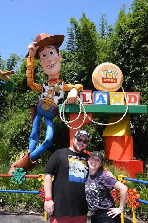 sign Toy Story Land opened