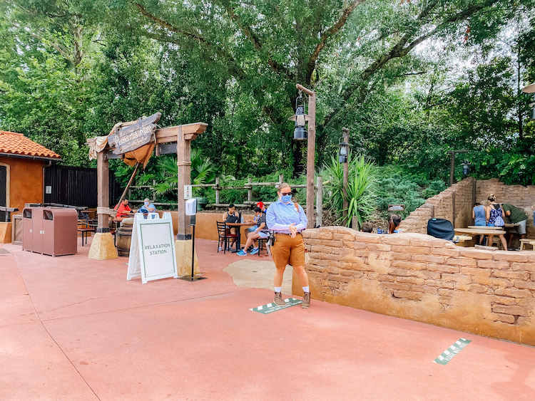 Disney World Reopened with relaxation stations at Magic Kingdom