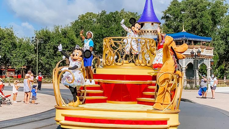 Character cavalcade at magic kingdom