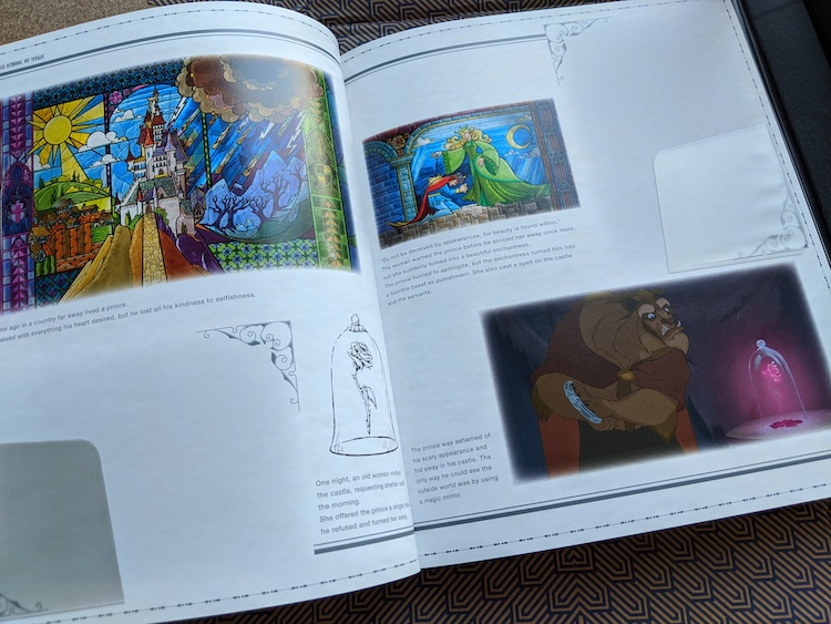 Beauty and the beast in magic book