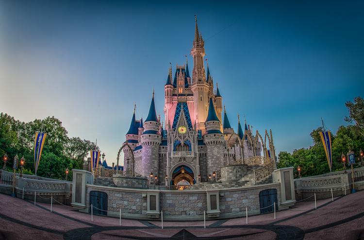 Cinderella Castle Facts castle at night