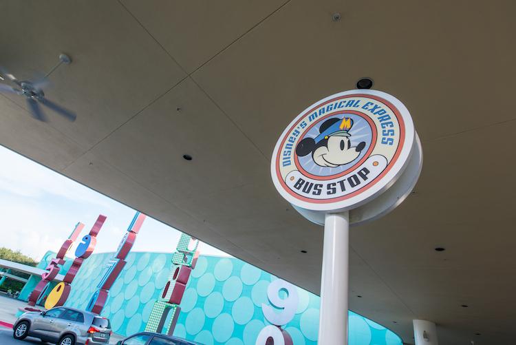 Disney's Magical Express Sign Bus Stop