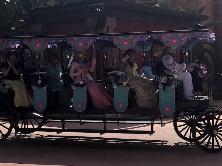 Disney Princesses trolley character cavalcades