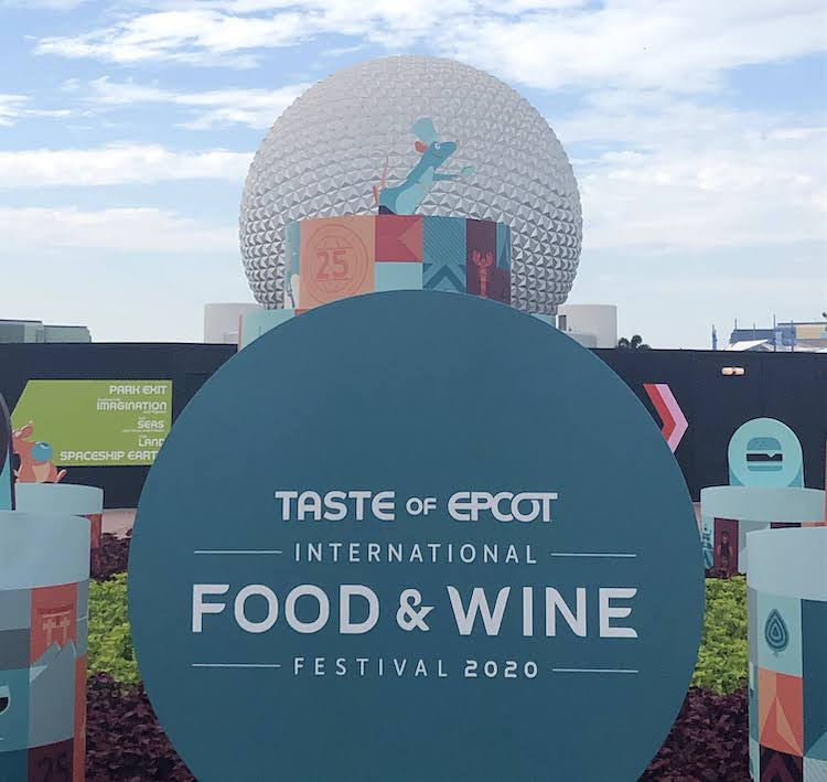 EPCOT Food and Wine Sign 2020