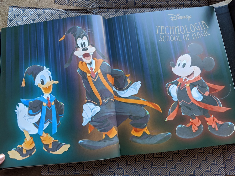 Mickey and friends in CodeIllusion book
