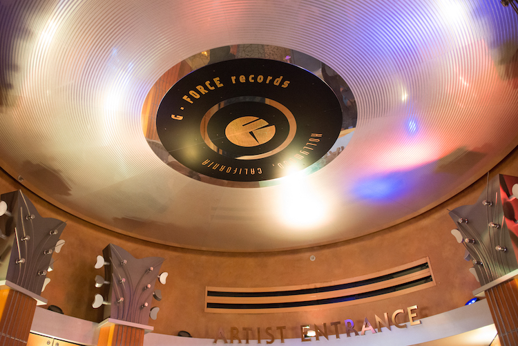 G-Force Records on ceiling