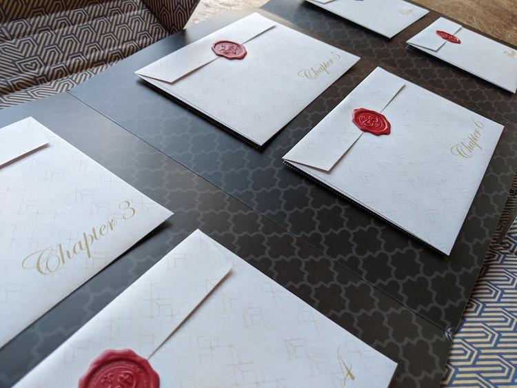 Secret Postcards inside folder coding with Disney