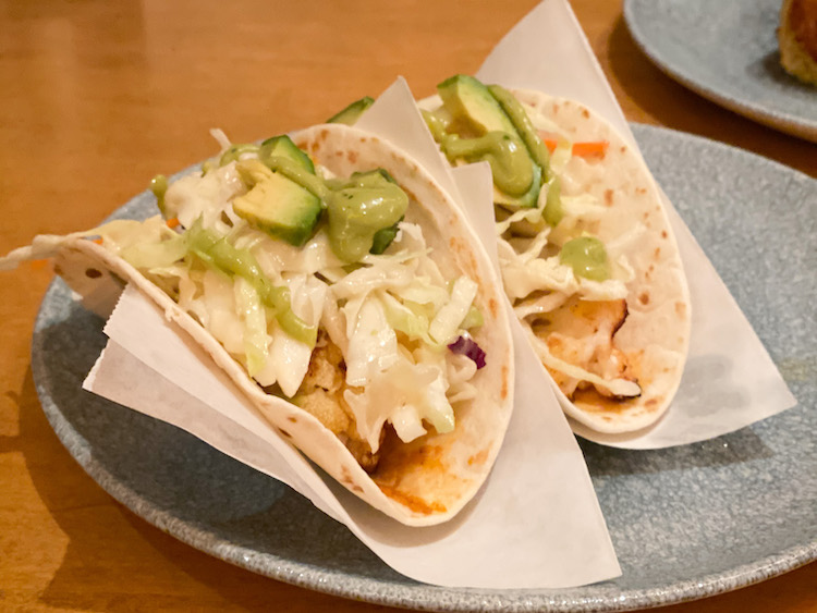 Taco appetizers at The Wave in the Contemporary