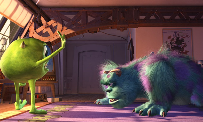 Monsters Inc Sulley Excersizes back-to-school tips