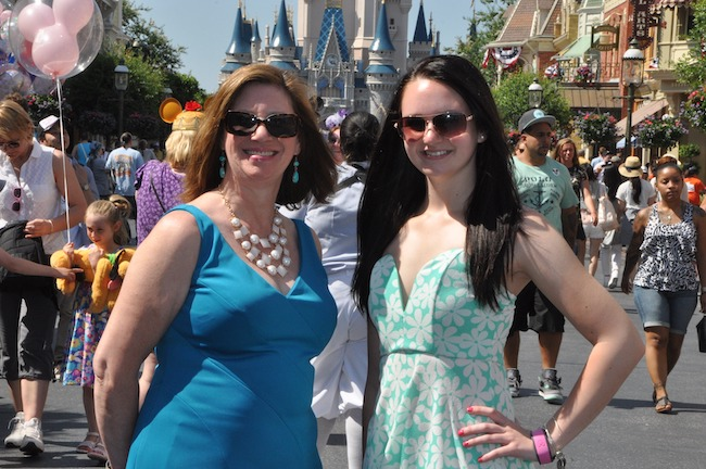 carolyn tiberi at Disney castle know before your disney vacation