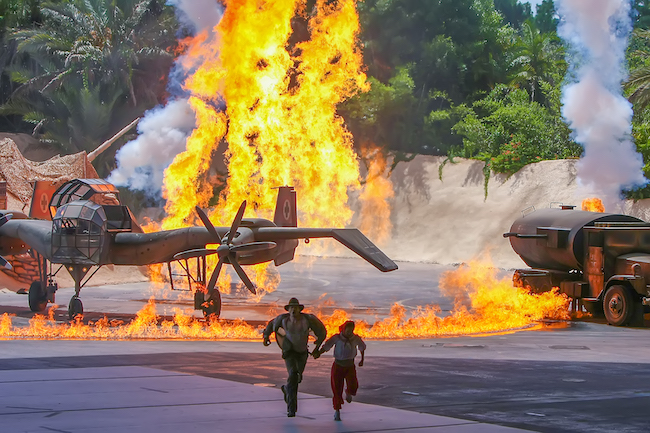 Indiana Jones Epic Stunt Spectacular Plane on Fire