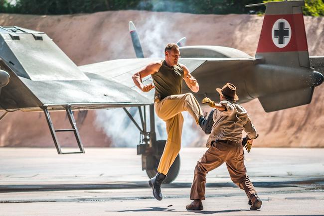 Indiana Jones Stunt Kick Plane with cross