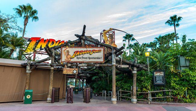Indiana Jones Epic Stunt Spectacular Sign
