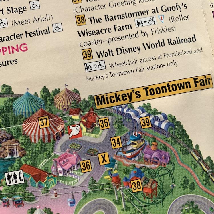 Mickey's Toontown Fair map 1998