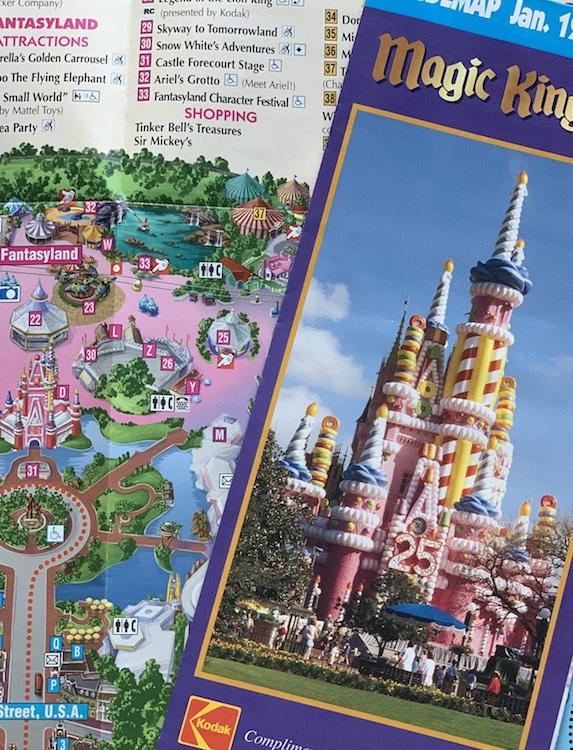 pink balloon castle map magic kingdom in 1998