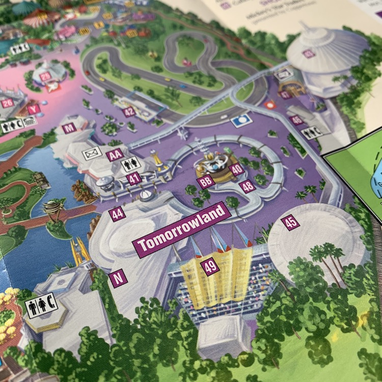 map of tomorrowland in 1998