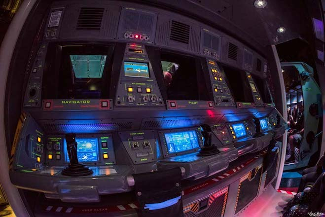 inside the attraction mission space