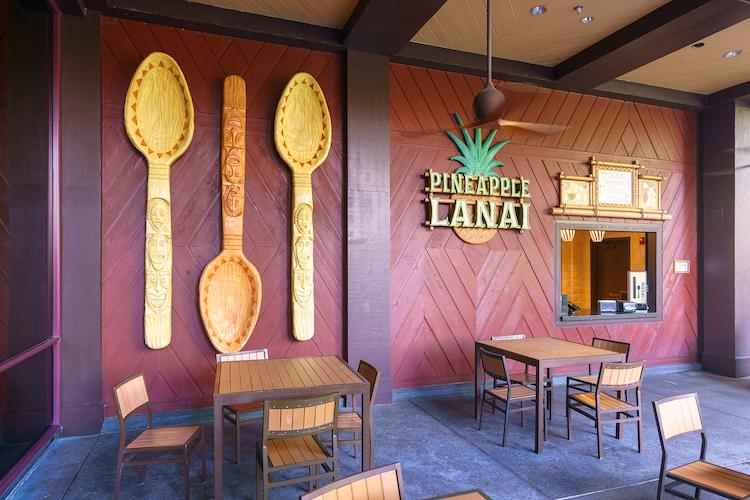 Pineapple Lanai at polynesian resort