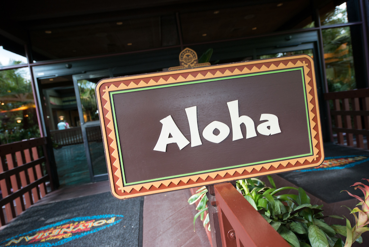 aloha sign at polynesian resort