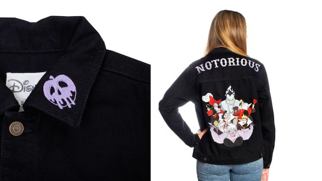 Embroidered Disney VIllain Jean Jacket