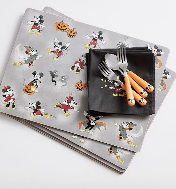 pottery barn and disney halloween Mickey Place Mats, forks, napkins