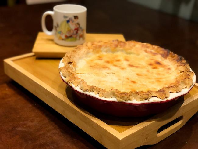 gooseberry pie and snow white mug