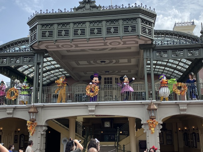 characters in costume at Disney