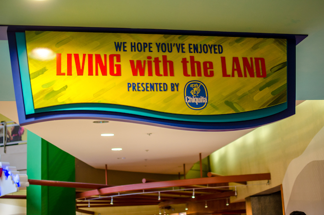 living with the land sign