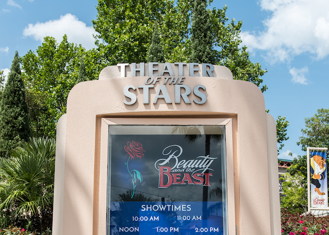 theater of the stars sign at hollywood studios