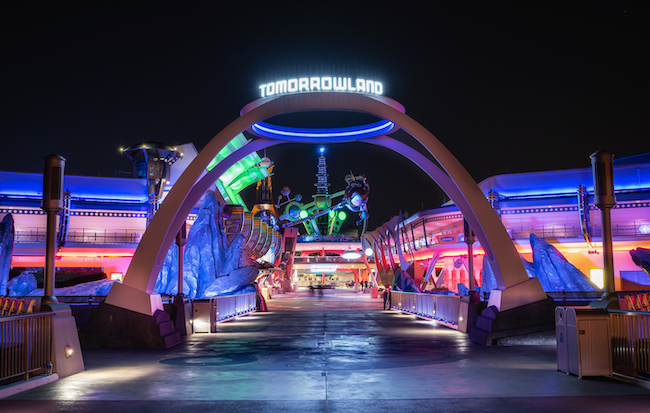 sign at night tomorrowland facts