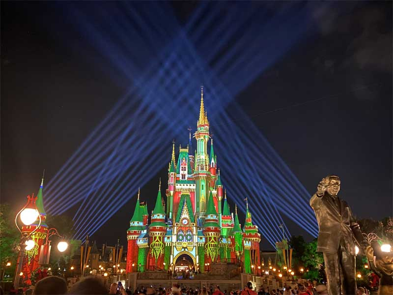 Mickey's Very Merry Christmas Party Canceled- Castle Projection