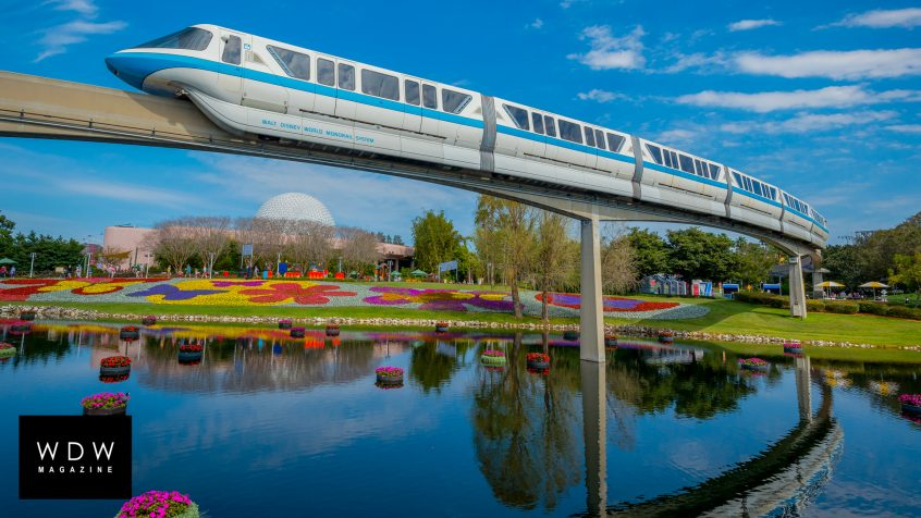 EPCOT monorail Zoom background