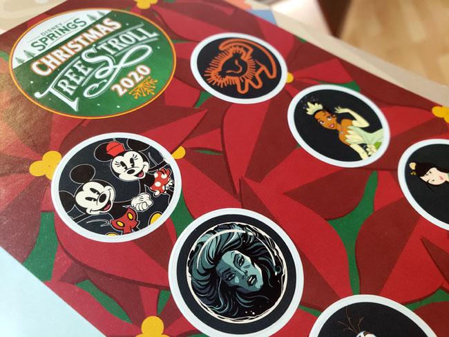 2020 Christmas Tree Stroll Stickers Disney Springs WDW Blanken