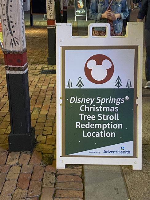 2020 Christmas Trees at Disney Springs redemption location de la Fe