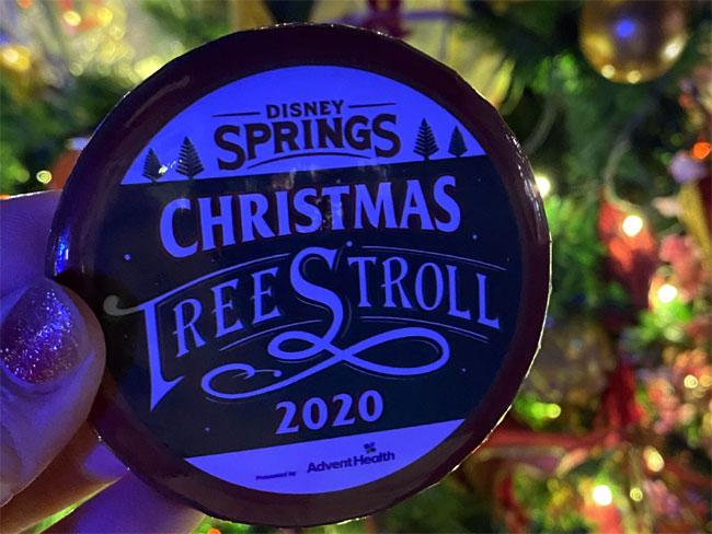 Cristmas Tree Stroll button free gift surpise de la Fe