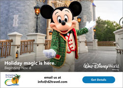 Destinations to Travel Christmas at Disney World 2020 250x180