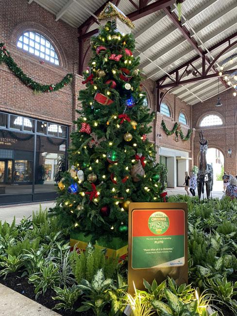 Pluto Tree at Disney Springs Christmas Tree Stroll 2020 Chiu