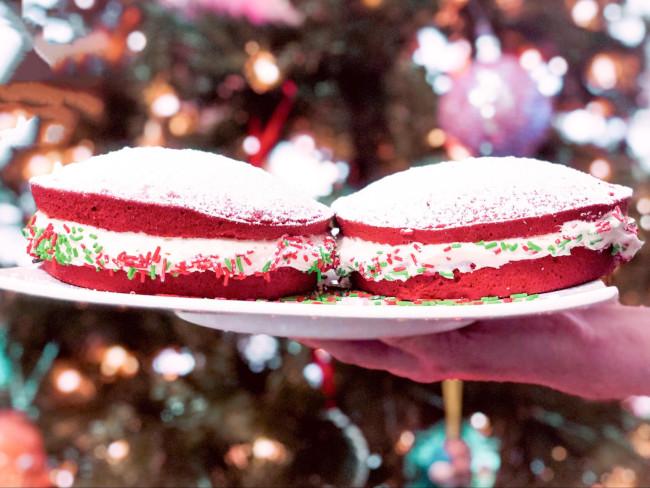 Two Homemade Whoopie Pies - Disney Christmas Whoopie pie recipe