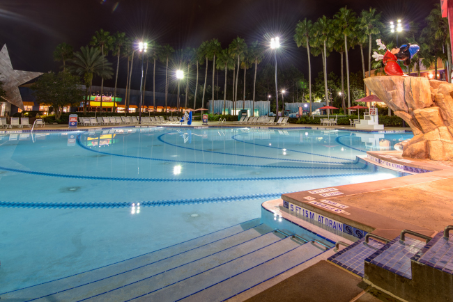 The Fantasia pool at Disney's All-Star Movies resort