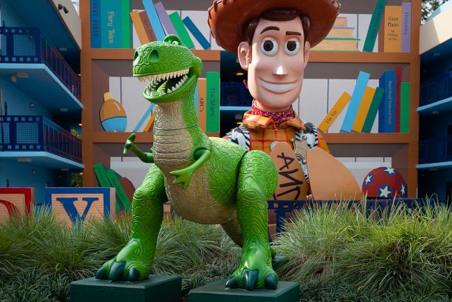 Woody and Rex at Disney's All-Star Movies Resort
