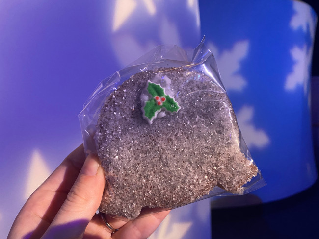 Spaceship Earth shaped sugar cookie holiday hearth booth